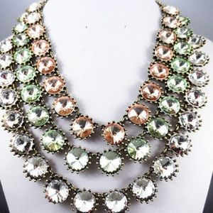 J. Crew Venus Flytrap necklace- peach/pink